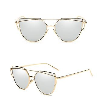 Vintage Retro Women's Cat Eye Designer Mirrored Sunglasses UV400
