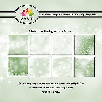 Dixi Craft Joulun tausta Vihreä 6x6 Tuuman PaperiPakkaus