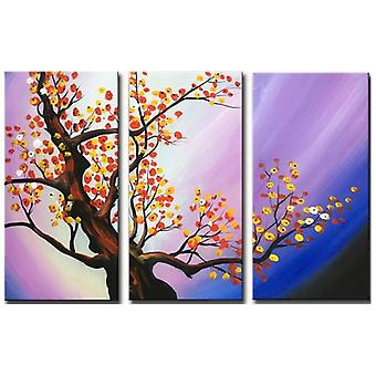 Oil on Canvas - Painting on Hand Painting - Autumn Leaves - Modern Painting Stay