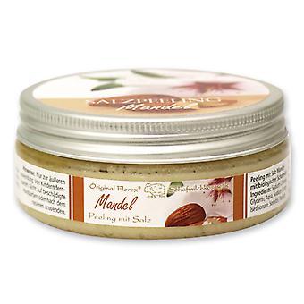 Florex Schafmilch Körper Salz Peeling Mandel mit biologischer Schafmilch Seidenweiche Haut Reinigung Pflege 200 ml