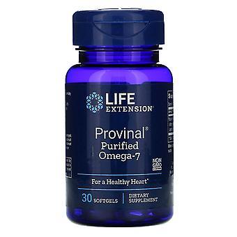 Prolongation de la durée de vie utile, Provinal Purified Omega-7, 30 Softgels