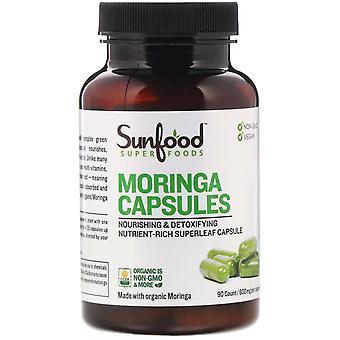 Sunfood, Moringa Capsules, 600 mg, 90 Capsules