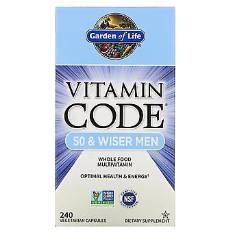 Garden of Life, Vitamin Code, 50 & Wiser Men, 240 Vegetarian Capsules