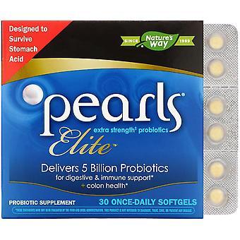 Natur's Way, Pärlor Elite, Extra Styrka Probiotika, 30 Once-Daily Softgels