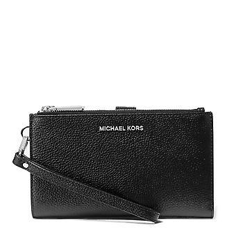 MICHAEL Michael Kors Adele Black Leather Double Zip Wristlet