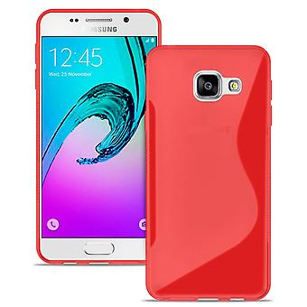 Samsung Galaxy A3 (2016) A310 Rubber Bumper Bumper Softening Common Colors Red