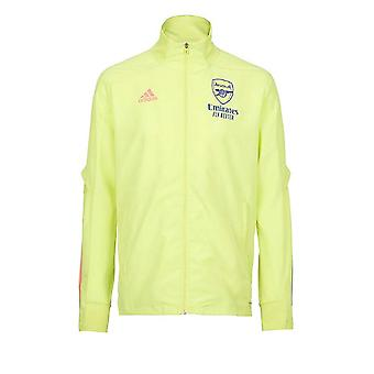 2020-2021 Arsenal Adidas Presentation Jacket (Yellow) - Kids