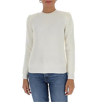 Elisabetta Franchi Mk26s06e2360 Women's White Wool Sweater