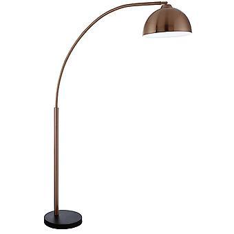 Searchlight Giraffe - 1 lys gulvlampe kobber med svart marmor base, E27