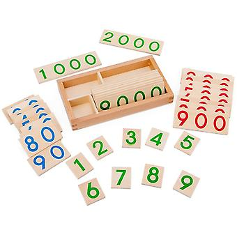 Children's Montessori Learning Card - Math Teaching Aids For Preschool Early