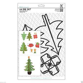 Xcut A4 Die definido por Docrafts Build A Christmas Tree 5 Piece set