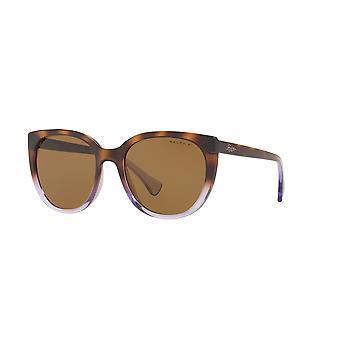 Ralph by Ralph Lauren RA5249 573683 Top Havana Gradient On Transparent Violet/Dark Brown Polarised Sunglasses