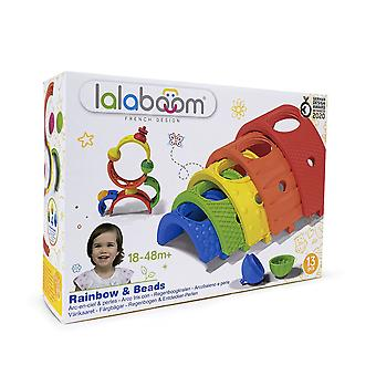 lalaboom 13 pieces Rainbow & Beads 5 arches 4 Beads