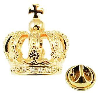Insignia de pin de la solapa de la corona de Ties Planet Golden 3d