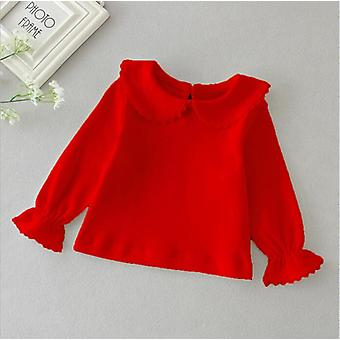 Baby Blouse Autumn Sweet Ruffle, Collar Long Sleeve Tops- Blouses Bluzka