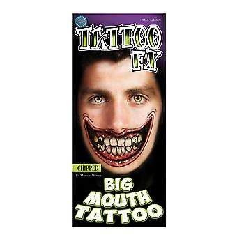 Tinsley Transfers Big Mouth Tattoos (Chipped)