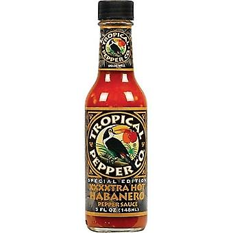 Tropical Pepper Co. XXXXTRA Hot Habanero Hot Sauce