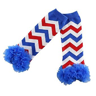 Promotion Real Retail Chevron Design Baby Warmers Ruffle Zig Zag Leg Warmers