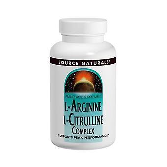 مصدر Naturals L-أرجينين L-Citrulline مجمع, 240 علامات التبويب