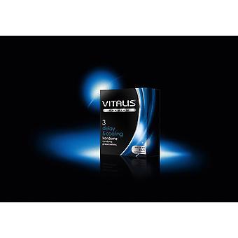 Vitalis întârziere & prezervative de răcire - pachet de 3