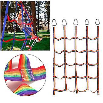 Nylon Kletternetz mit Dreieck Haken körperliches Training (145x185cm)
