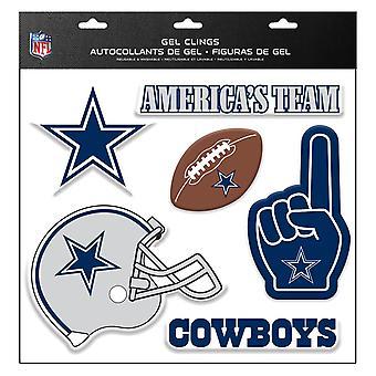 NFL Dallas Cowboys Tarra Monikäyttöinen 6Er-sarja ikkunoiden koristelu