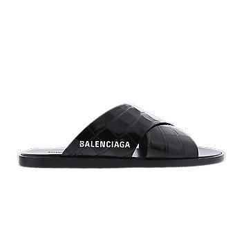 Balenciaga بغل مريح و كروكو الأسود 597148WA9D51006 الأحذية