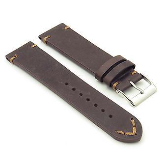 Strapsco dassari tributo extra longo vintage cinta relógio de couro italiano