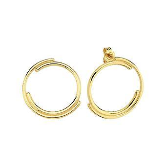 sirkel gull øredobb