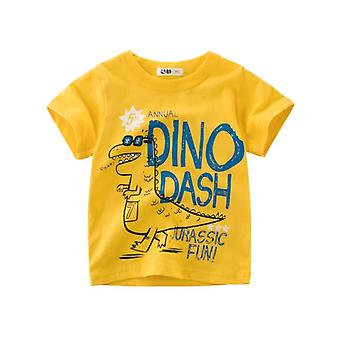 Boys & Cartoon Dinosaur Print Kids Summer T-shirt