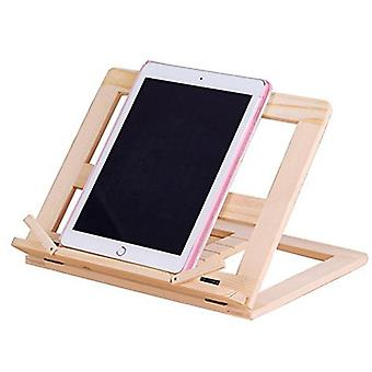 Wooden Reading Book Support Stand, Lectern Wood For Tablet, Pc, Bookends