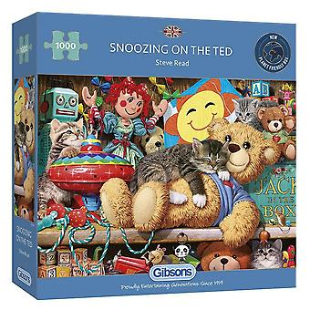 Gibsons Puzzel Snoozing op de Ted 1000 stukken