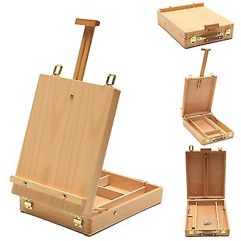 Multifunctional Easel With Wooden Box For Art Drawing & Painting Table, Oil