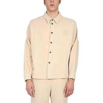 Opening Ceremony Ymga004f20fab0010404 Men's White Cotton Shirt