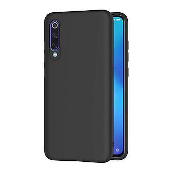 HATOLY Xiaomi Mi 9 Ultraslim Funda de silicona TPU Funda de Caja Negro
