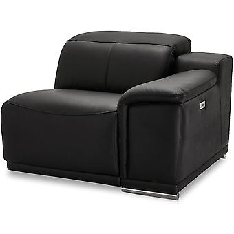 Ibbe Design Alexa 1 Seater Arm Right Black Leather, 105x102x73 cm