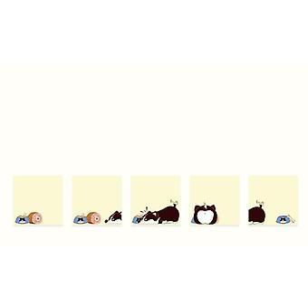 6 Designs Cat Small Plan Pocket Notepad