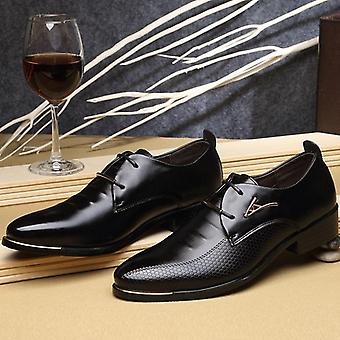 Dress Fashion Pointed Toe Lace Up Men's Business Casual Shoes