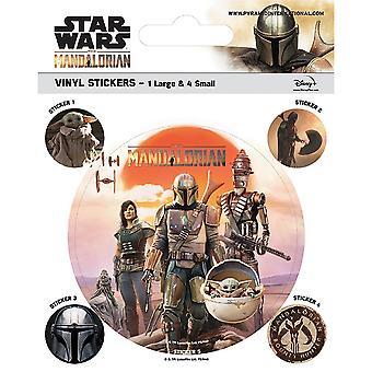 Star Wars: Mandalorian perintö Vinyyli tarrat (Pakkaus 5)
