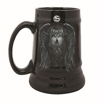 Spiral Wolf Spirit Stein Mug