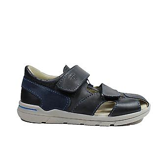 Ricosta Kaspi 3020100-183 Navy Boys Rip Tape Closed In Sandals