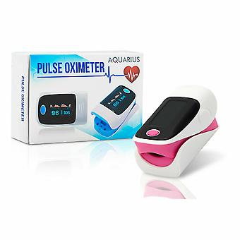 Aquarius Finger Pulse Oximeter with Saturation SpO2 & Pulse Heart Rate Monitor - Pink