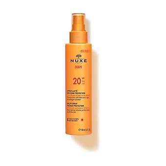 Nuxe Sun - Body and facial milk medium protection SPF20 150 ml (Coconut - Orange - Floral)