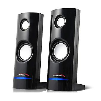 Audiocore ac860 8w 3.5mm usb portable bookshelf speaker set pc/laptop/tablet