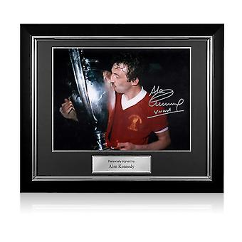 Alan Kennedy Signed Liverpool FC Photo: European Cup Winner. Deluxe Frame