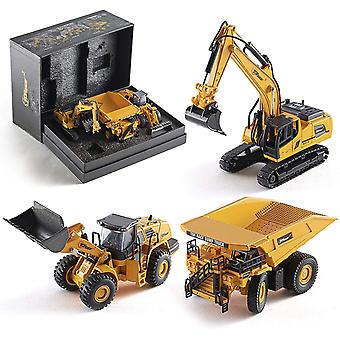Top Race TR-123D Diecast Construction Excavator, Dump Truck and Front Loader Models-Toys