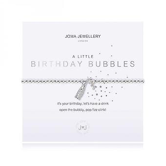 Joma Jewellery A Little Birthday Bubbles Silver 17.5cm Stretch Bracelet 3796