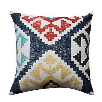 24 X 24 Kilim impreso tejido a mano algodón acentuado almohada, multicolor