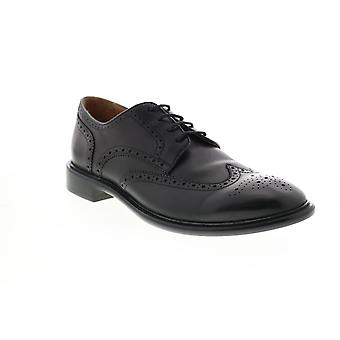 Geox U Guildford Mens Black Leather Oxfords & Lace Ups Wingtip & Brogue Shoes