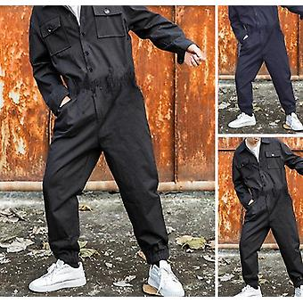 Men Cargo Overalls Jumpsuit